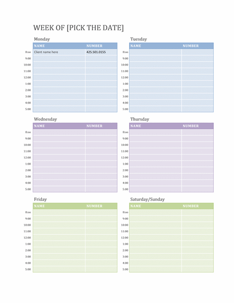 Schedules and Planners  Excel Templates  Calendars